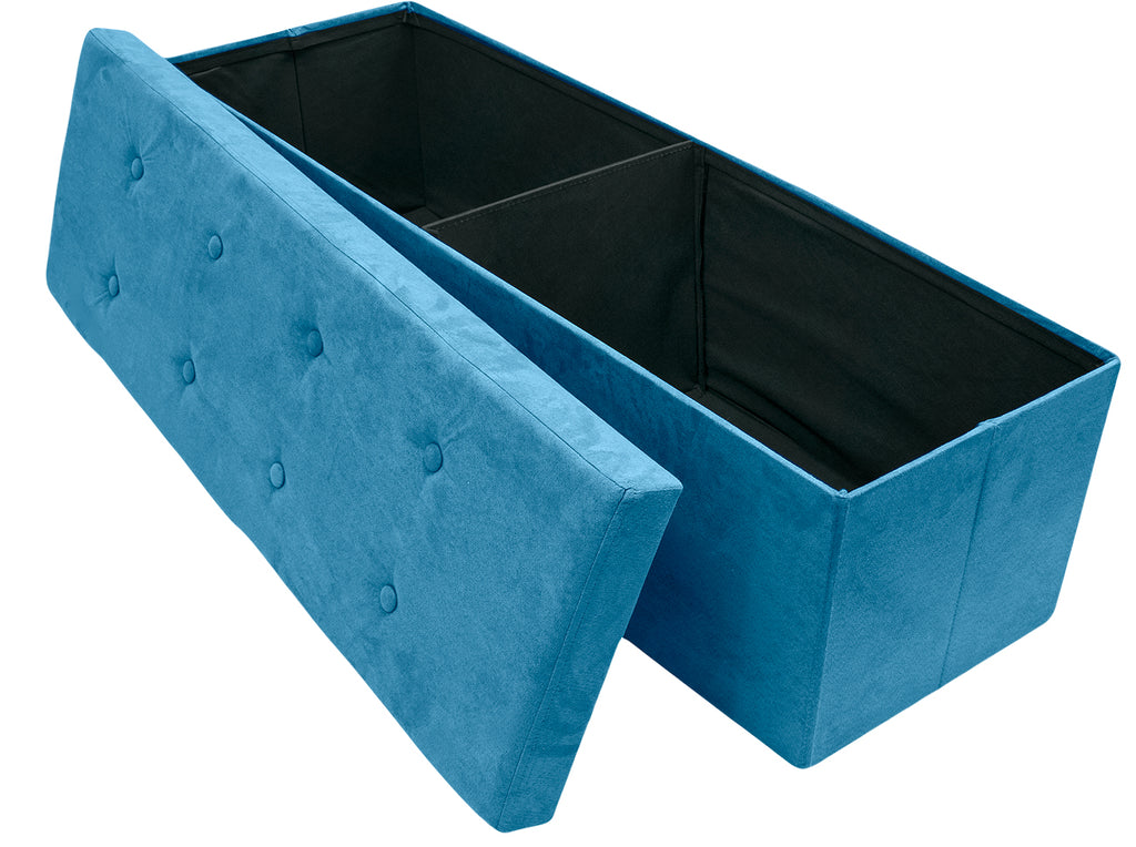 Remarkable Faux Suede Storage Bench Large Sorbus Home Inzonedesignstudio Interior Chair Design Inzonedesignstudiocom