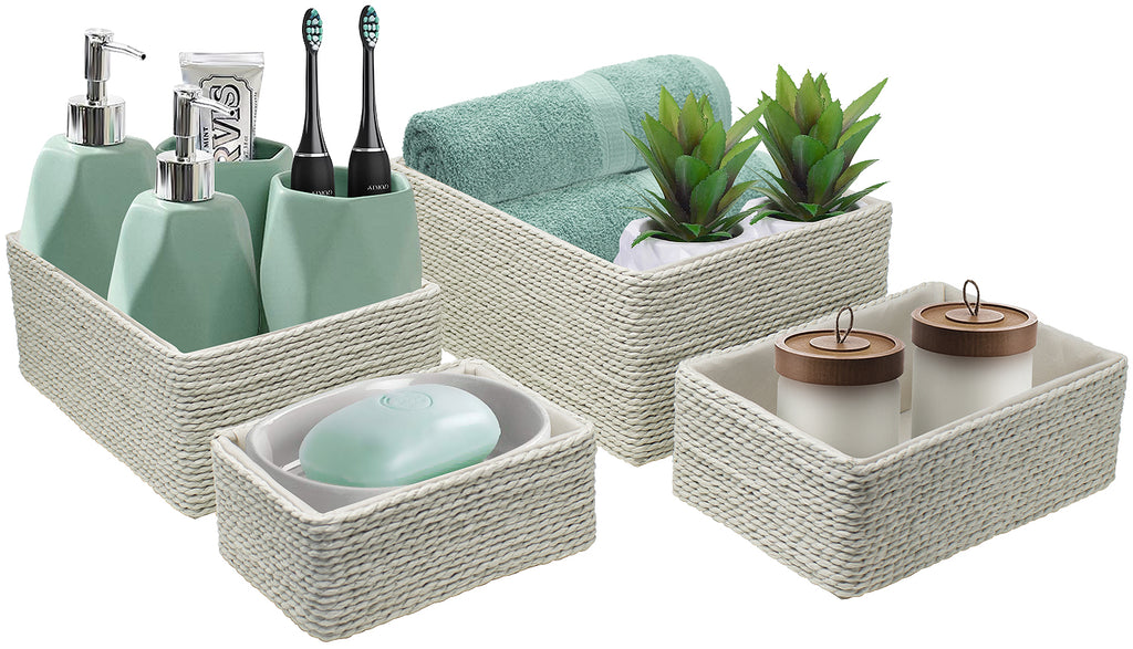 Woven Rope Baskets (4-Piece Set)