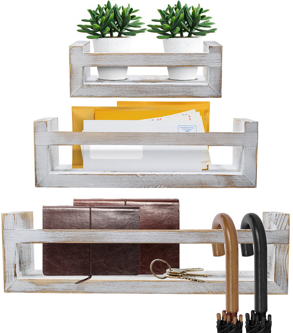 Farmhouse Floating Ledge Shelves (Set of 3)