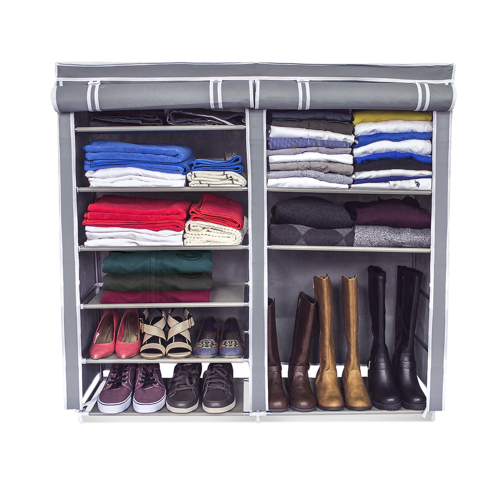 Portable Shoe and Wardrobe Storage Free Standing Organizer - Sorbus Home