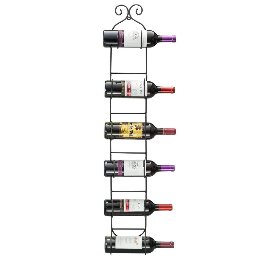 6-Bottle Wall Mounted Wine Rack - Sorbus Home