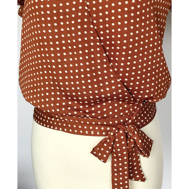 Polka Dot Wrap Top