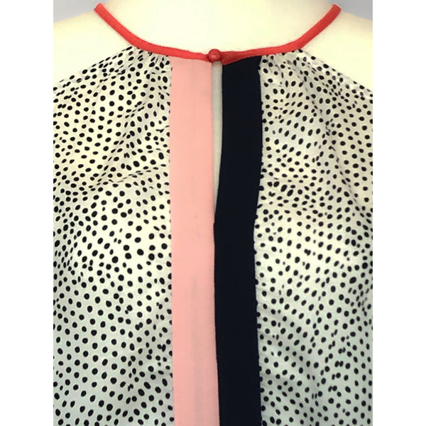 Cold Shoulder Polka Dotted Top
