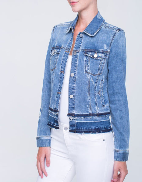Double Hem Jean Jacket