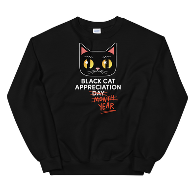 Sweatshirt Black Cat