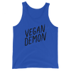 Unisex Tank Vegan Demon dark