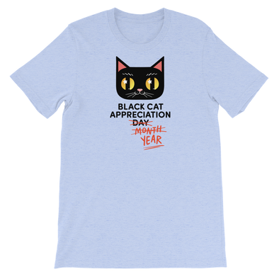 Basic T-Shirt Black Cat (Black Lettering)