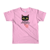 Kids t-shirt Black Cat (Black Lettering)