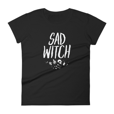 Women's Tshirt Sad Witch