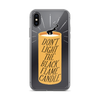iPhone Case Black Flame
