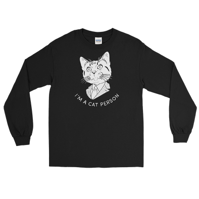 Longsleeve Cat Person (White)
