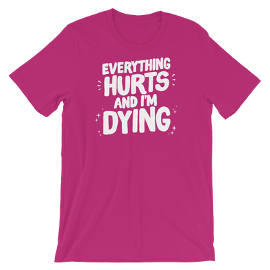Basic T shirt Everything Hurts