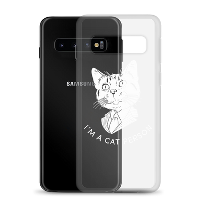 Samsung Case Cat Person (White)