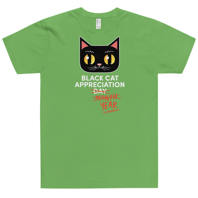 Fitted T-Shirt Black Cat