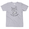Fitted T-Shirt Cat Person (Black)