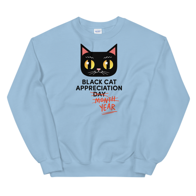 Sweatshirt Black Cat (Black Lettering)