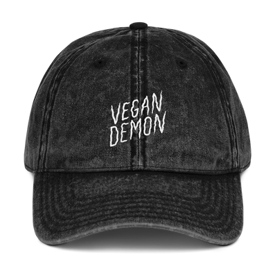 Vintage Dad hat Vegan Demon