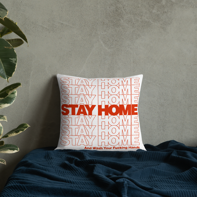 Premium Pillow Stay Home