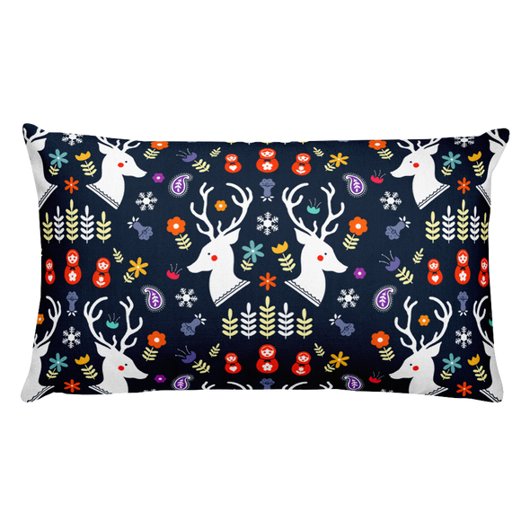 Throw Pillow Reindeer