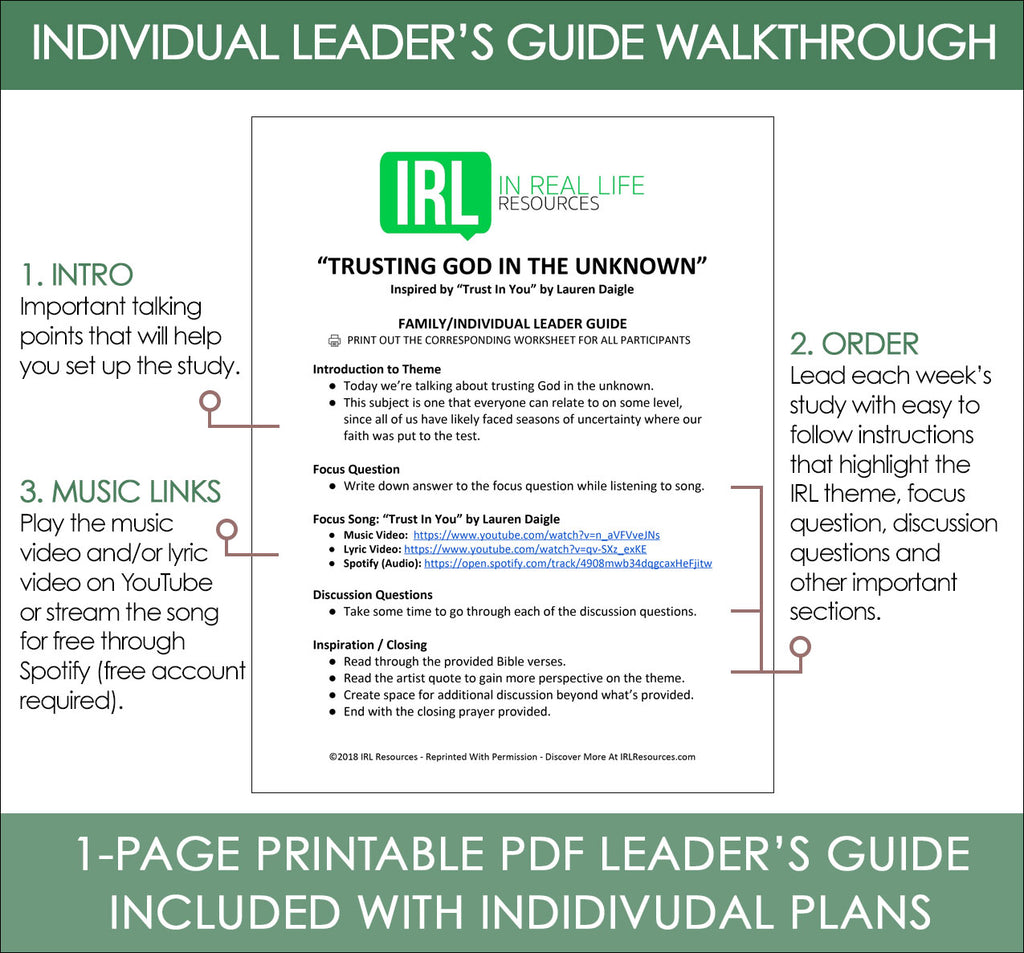 Individual Leader's Guide