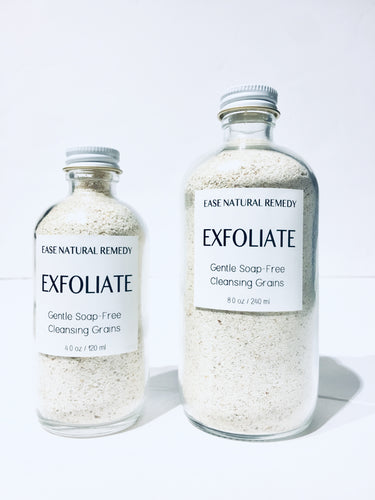 EXFOLIATE - Organic Gentle Soap-Free Cleansing Grains / Gentle Face Cleanser