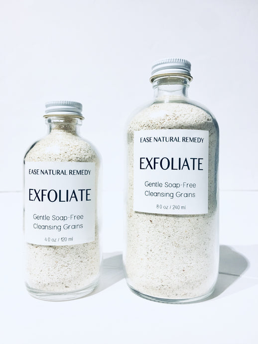 EXFOLIATE - Gentle Soap-Free Cleansing Grains (Almond + Oatmeal powder + Clay)