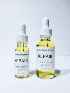 REPAIR Facial Serum - Calendula + Avocado + Pomegranate + Helichrysum for Dry Skin