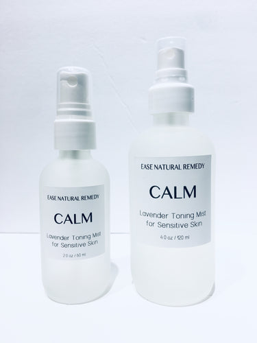 CALM - Organic Lavender hydrosol Toning mist for Sensitive Skin (Inflamed + Irritated Skin)