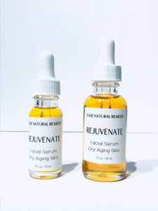 REJUVENATE 100% Organic Facial Serum - Camellia + Rosehip + Sea buckthorn Oil for Aging skin