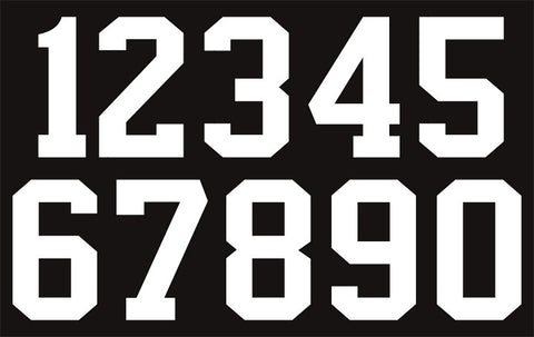 1-Color Hockey Jersey Numbers