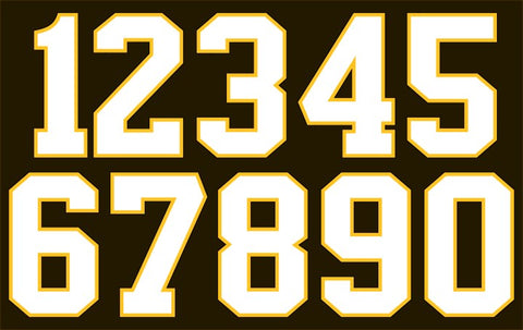 2-Color Hockey Jersey Numbers