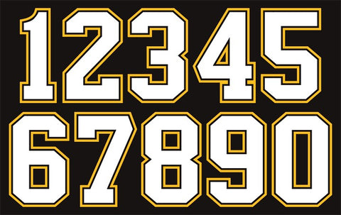 3-Color Hockey Jersey Numbers