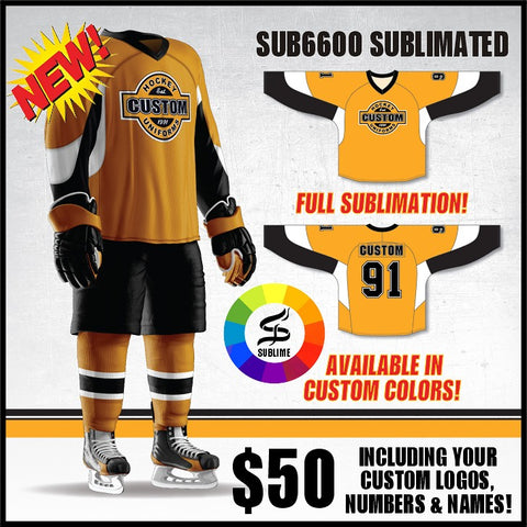 Custom Sublimated Hockey Jerseys Size Chart