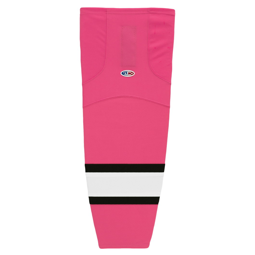 HS2100-272 Pink/Black/White Hockey Socks