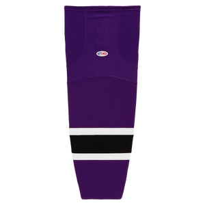 HS2100-438 Purple/Black/White Hockey Socks