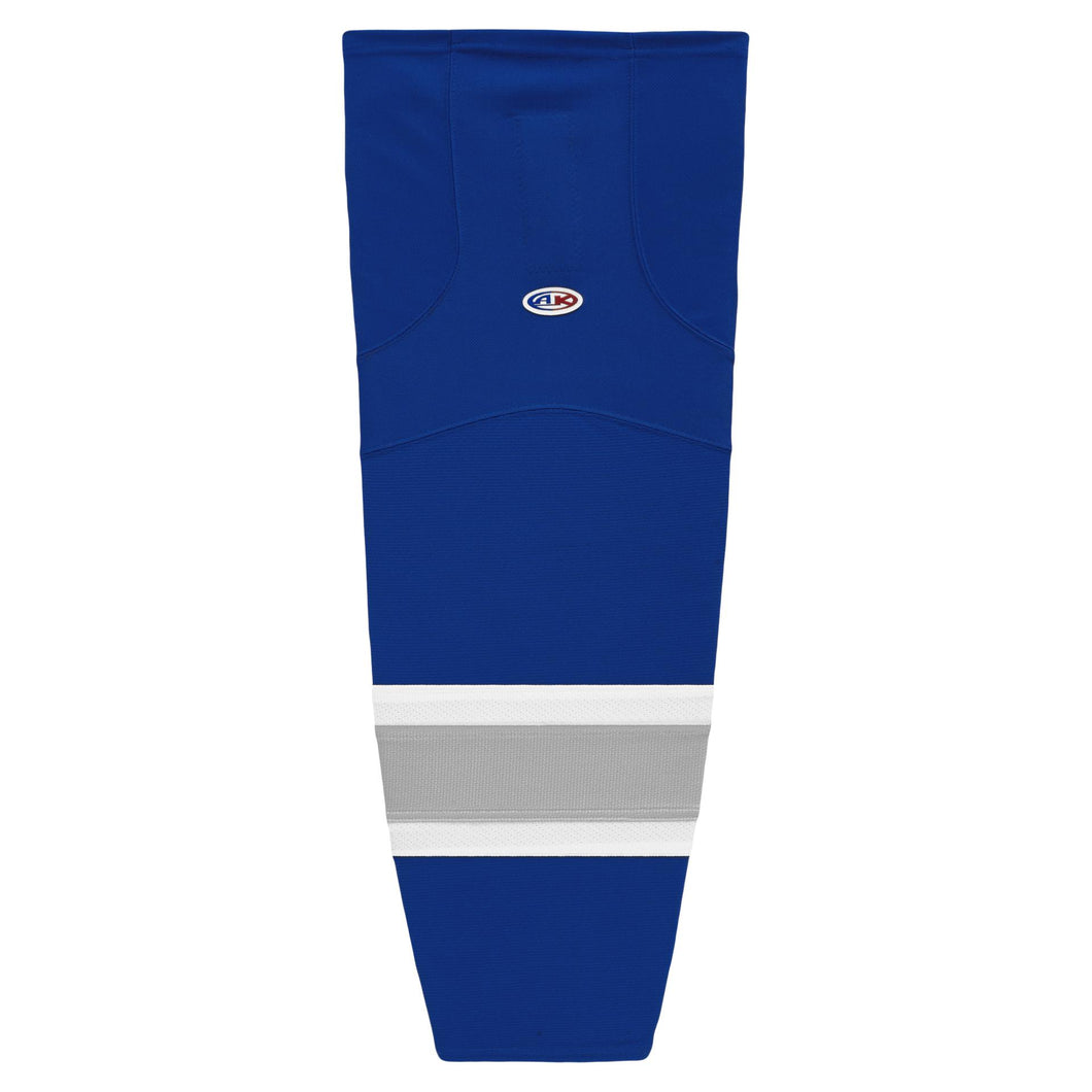 HS2100-446 Royal/Grey/White Hockey Socks