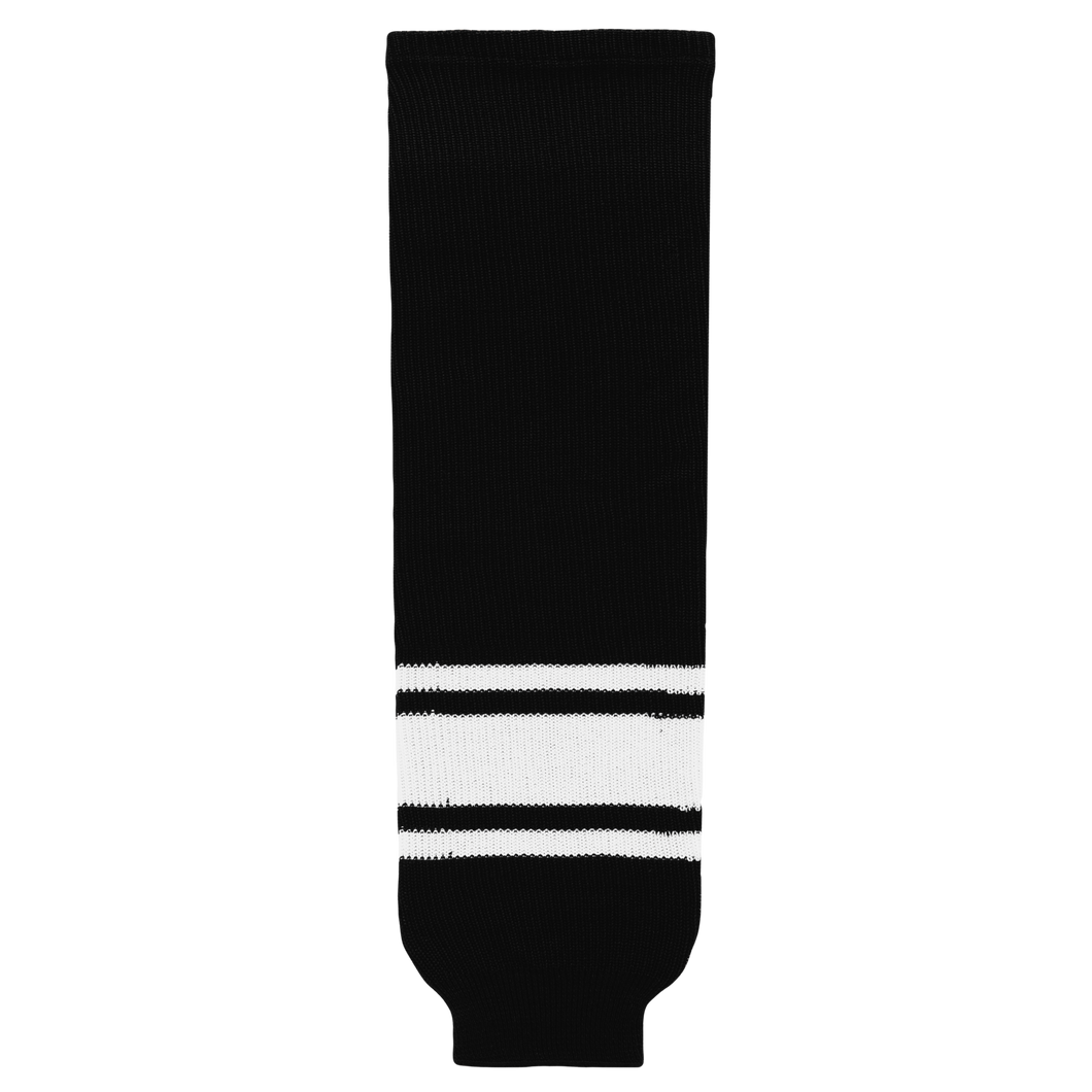 HS630-221 Black/White Hockey Socks