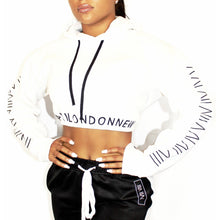 White Cities Cropped Hoodie