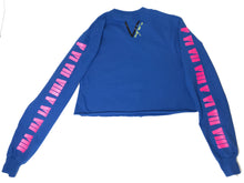 Cropped Long Sleeve Blue Tee