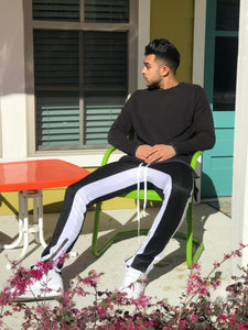 Black And White Men's joggers