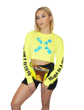 Cropped Long Sleeve Neon Tee