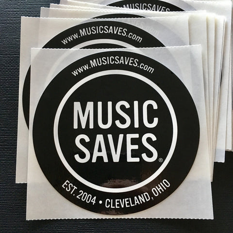 MUSIC SAVES classic logo sticker