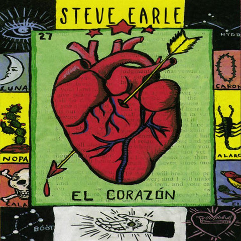 Earle, Steve - El Corazón LIMITED LP (+litho) - MUSIC SAVES