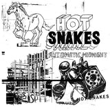 Hot Snakes - Automatic Midnight LIMITED LP (orange +download, stickers) - MUSIC SAVES