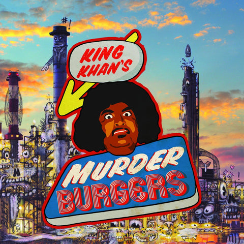 King Khan - Murder Burgers LP (white w/red splatter) - MUSIC SAVES