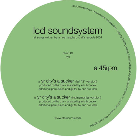 LCD Soundsystem - Yr City's A Sucker 12-inch