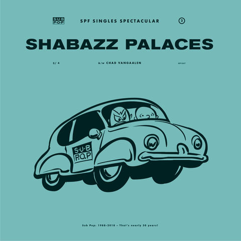 Shabazz Palaces: The Blue Tiger b/w Chad Vangaalen: Friendly Aliens LIMITED 45 (blue)