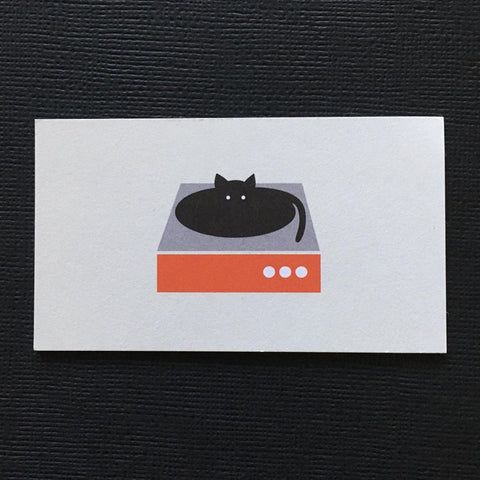 Vinyl Cat Turntable Magnet