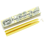 "10"" Beeswax Taper Candles, Single-Pair Gift Box"