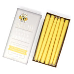 "10"" Beeswax Taper Candles, Set of 12"